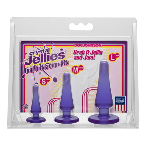 Crystal Jellies Anal Initiation Kit (Purple) Box