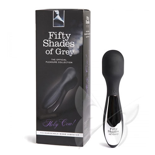 Fifty Shades of Grey Holy Cow! Rechargeable Wand Vibrator Box