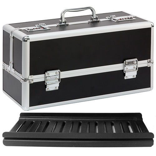 Lockable Sex Toy Storage Case Large Black with Joyboxx PlayTray