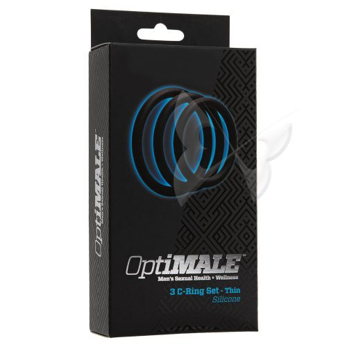 OptiMALE 3 C Ring Set Thin (Black) Box
