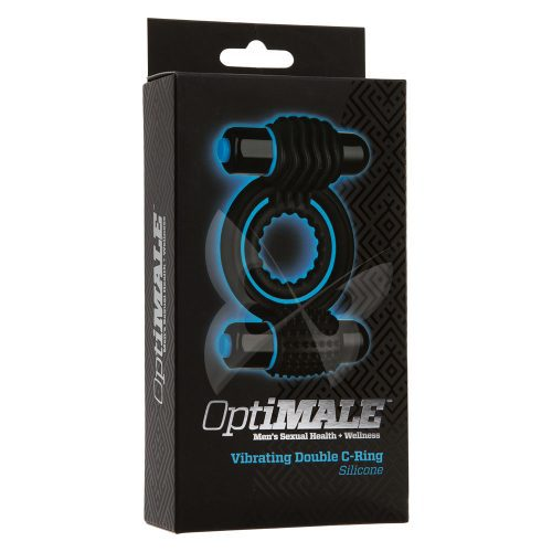 OptiMALE Vibrating Double C Ring (Black) Box