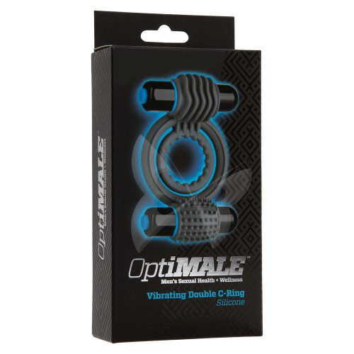 OptiMALE Vibrating Double C Ring (Slate) Box