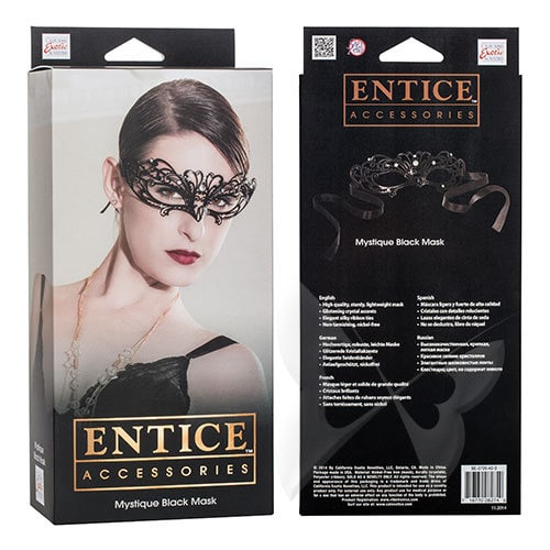 Entice Accessories Mystique Mask (Black) Box