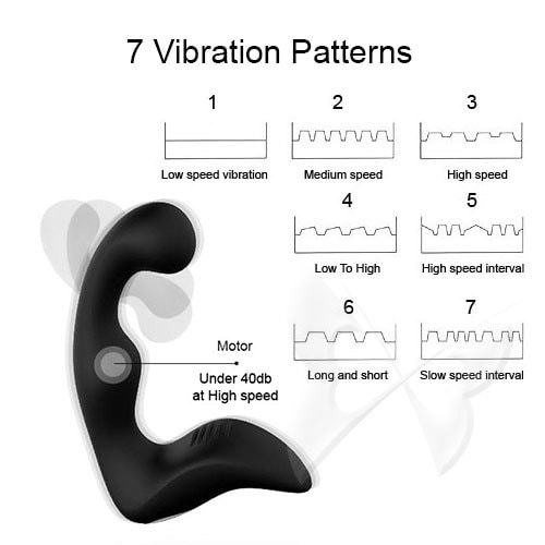 Fare L'Amore Alessandro Vibrating Prostate Massager 7 Vibration Patterns