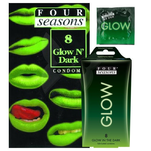 Four Seasons Glow N Dark Condoms 8 Pack