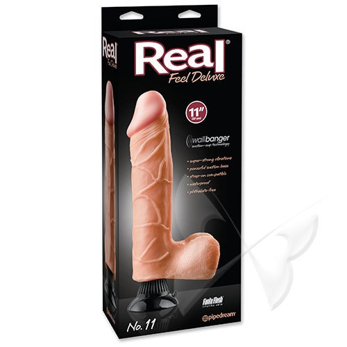 Real Feel Deluxe 11 Inch Flesh Realistic Vibrator Box