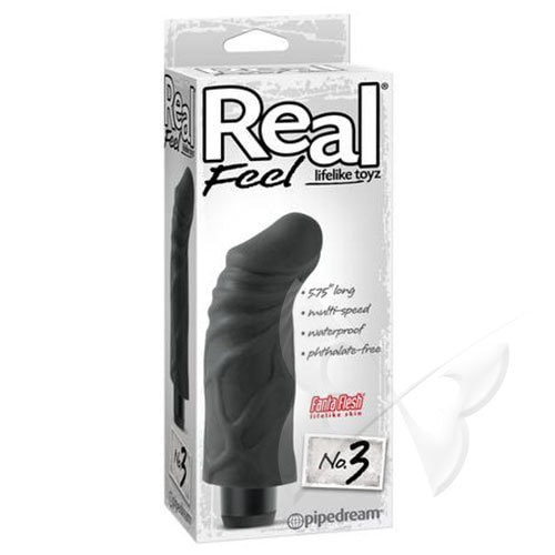Real Feel Lifelike Toyz 5.75 Inch Black Realistic Vibrator Box