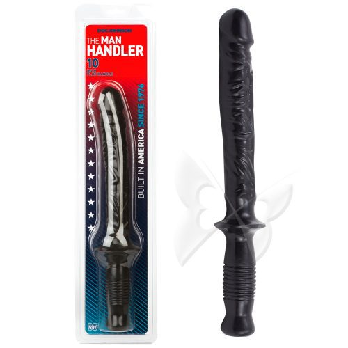 Man Handler 10 Inch Anal Dildo (Black) Packaging