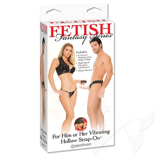 Fetish Fantasy Series Vibrating Hollow Strap On (Flesh) Box