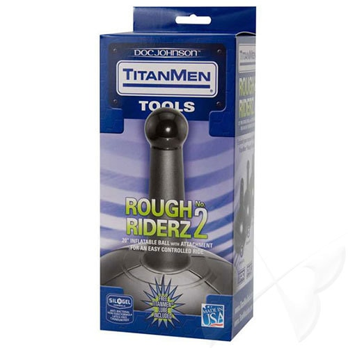 TitanMen Tools Rough Riderz No 2 Inflatable Ball With Anal Probe Box