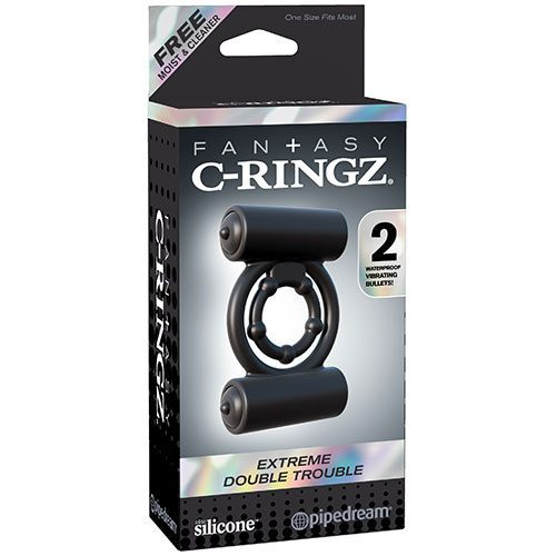 Fantasy C-Ringz Extreme Double Trouble | Vibrating Cock Rings