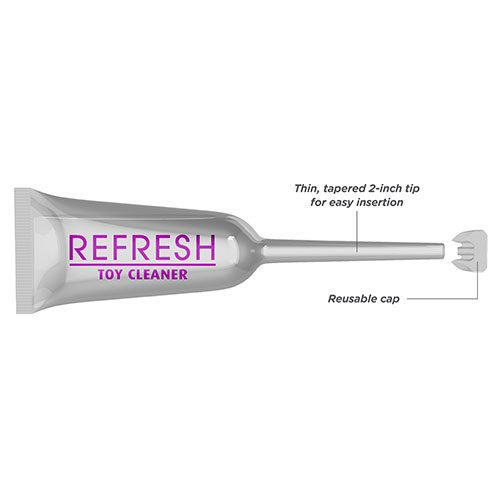 King Cock Insertz Refresh 3 Pack Sex Toy Cleaner Close Up