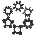 Tower Of Power 6 Cock Rings (Black)