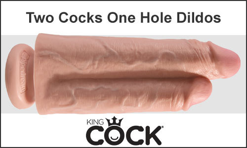 King Cock Two Cocks One Hole Realistic Dildos For Sale Online