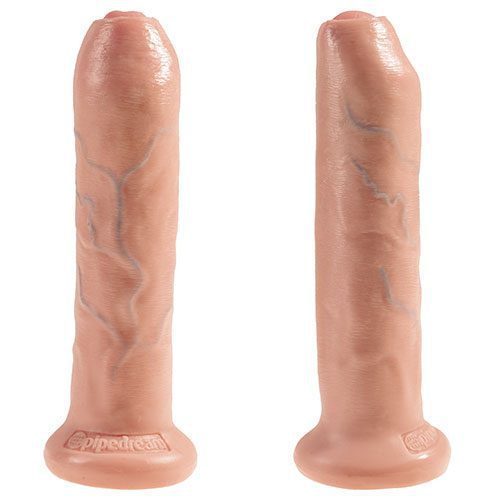 King Cock 7 Inch Uncut Cock Flesh Realistic Uncircumcised Dildo Views