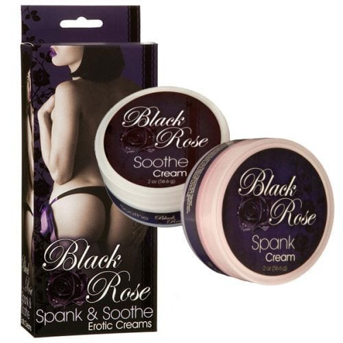 Black Rose Spank and Soothe Erotic Creams | Sexual Enhancers Box