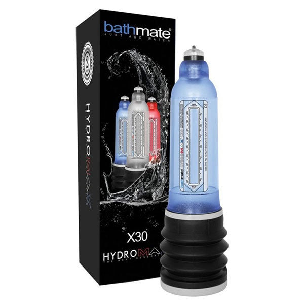 Bathmate Hydromax X30 Penis Pump (Blue) Box