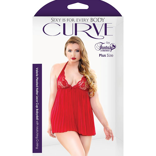 Fantasy Lingerie | Curve | Valerie Pleated Babydoll