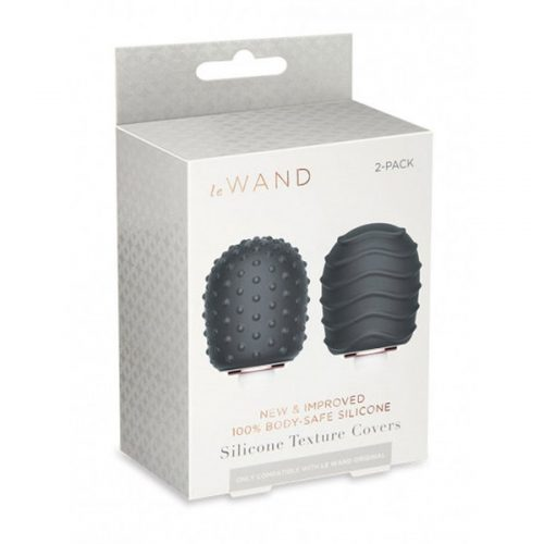 Le Wand Original Silicone Texture Covers 2-Pack (Dark Grey)