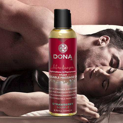 Dona | Kissable Massage Oil | Strawberry Soufflé